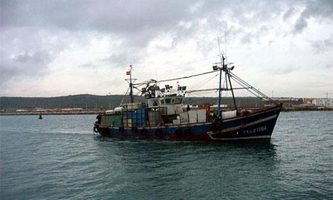 Uno de los barcos que faenan en la zona. | Foto: Ministerio de Agricultura y Pesca