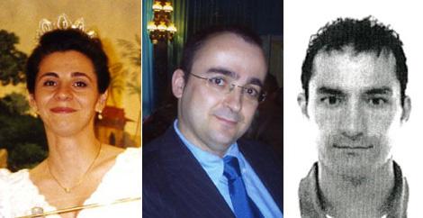 De izda. a dcha., Dolores, M. Ángel Salgado y Guarín. Fotos: Interviú