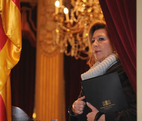 Munar en el Parlament balear en una imagen de archivo.   Pep Vicens