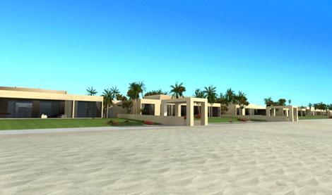 Recreación de la casa que se está construyendo en Tánger.