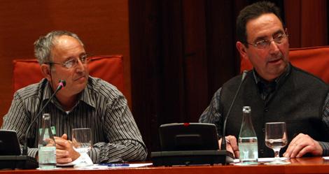 Fumadó (izq) y Ferré i Avellanás, presidente de peñas de Terres de l'Ebre. | Quique García
