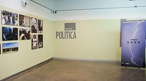 Sección de la exposición del MuVIM tras la retirada de las fotos. | UP