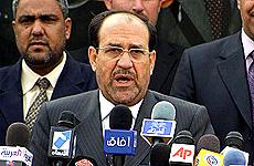 El actual primer ministro, Nuri al Maliki.   Efe