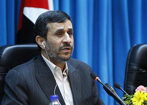 El presidente iraní, durante una conferencia en Teherán. | AP