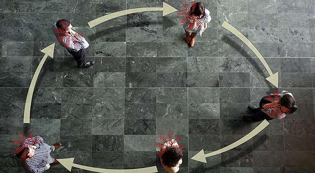 Simulación de una red 'manet'.   Pablo Requejo