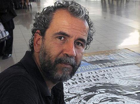 Willy Toledo, en una de las concentraciones en favor de Aminatu Haidar. | Javier Fuentes