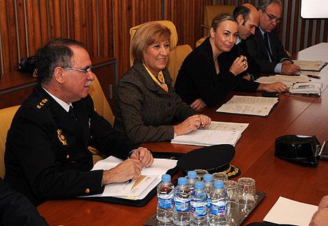 Reunión de la Junta Local de Seguridad de Alicante, este martes. | Cristóbal Lucas