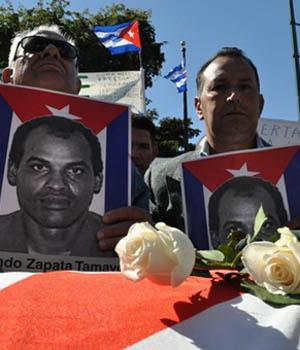 Manifestación por la muerte de Zapata. | El Mundo