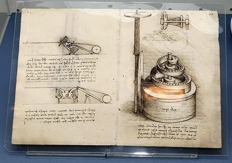 Tratado de Estética y Mecánica de Leonardo da Vinci, que expone la Biblioteca Nacional. | Efe