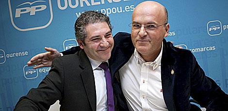 Eladio Fernández (izda.), junto a José Manuel Baltar. | Efe