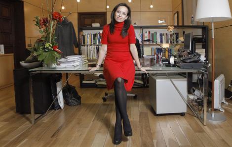 Beatriz Corredor instantes después de la entrevista. | Fotos: Óscar Monzón