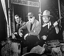 James Stewart, John Ford y John Wayne