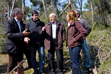 Montilla, acompañado por alcaldes de municipios afectados | Efe