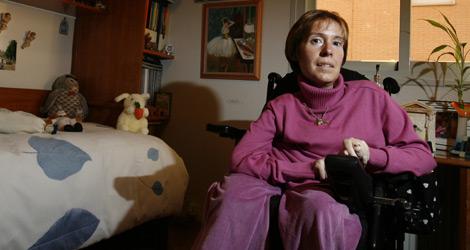 Una mujer con discapacidad física.   Begoña Rivas