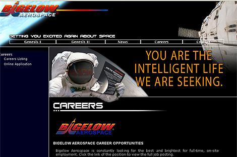 La sección de empleo da la bienvenida con la frase: 'Tú eres la vida inteligente que buscamos'