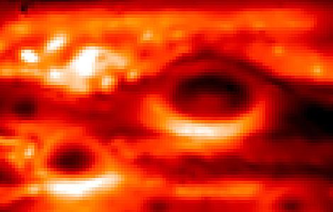 Imagen termal de la Gran Mancha Roja   ESO