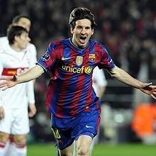 Messi celebra el 1-0.   Ap