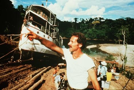 Werner Herzog, durante el rodaje de 'Fitzcarraldo' (1982).   Blackie
