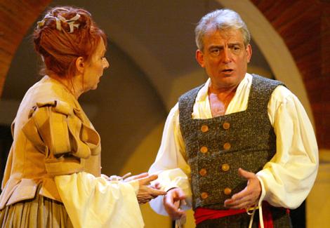 El actor, durante el ensayo de 'El alcalde de Zalamea' en el Teatro Español. | B. Cordón