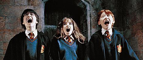 Daniel Radcliffe. Emma Watson. Rupert Grint, en 'Harry Potter y la piedra filosofal'.