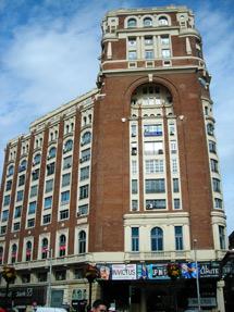 El Palacio de la Prensa, en el nº 46 de la Gran Vía. | J. F. L.