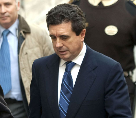 Jaume Matas a su llegada a los juzgados esta mañana. | Efe