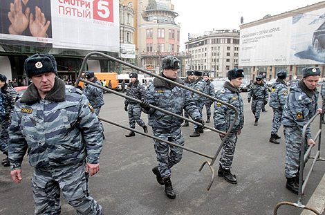 Policía rusa acordona las calles de Moscú tras los atentados. | Reuters