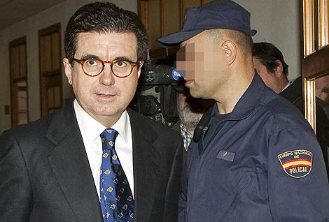 Jaume Matas en los juzgados de Palma
