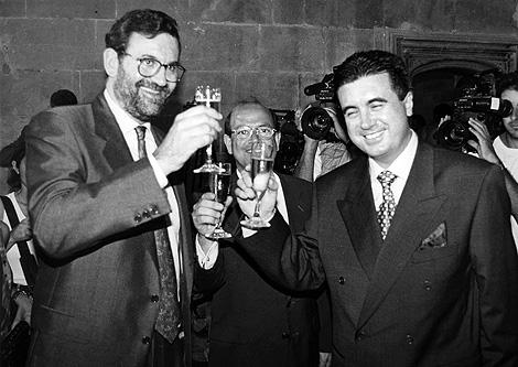 Mariano Rajoy y Jaume Matas, en 1996. | José Vicens
