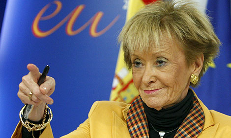 La vicepresidenta primera del Gobierno, María Teresa Fernández de la Vega. | Efe