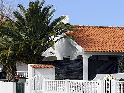 Vivienda de Óbidos (Portugal) donde se ha hallado el piso de ETA.   Efe