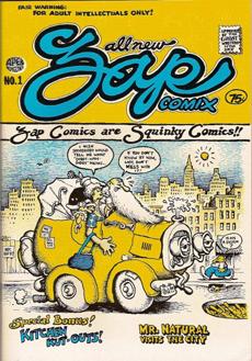 Portada del número uno de 'Zap Comix', la revista que creó Robert Crumb en 1967.