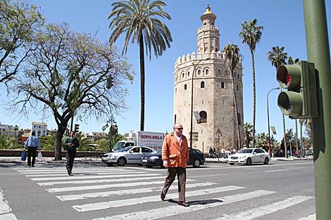 El paso de peatones donde se produjo el atropello mortal.   Carlos Márquez