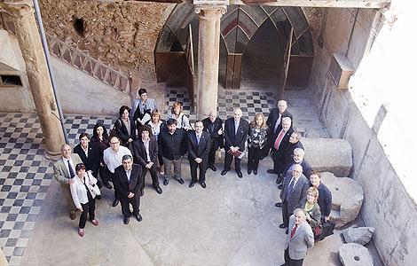 Los miembros del Consell Valencià de Cultura visitaron el edificio.