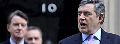 Brown, esta mañana en Downing Street. | Efe