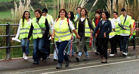 Participantes de la Marcha por el 0,77% Solidario. | ELMUNDO.es