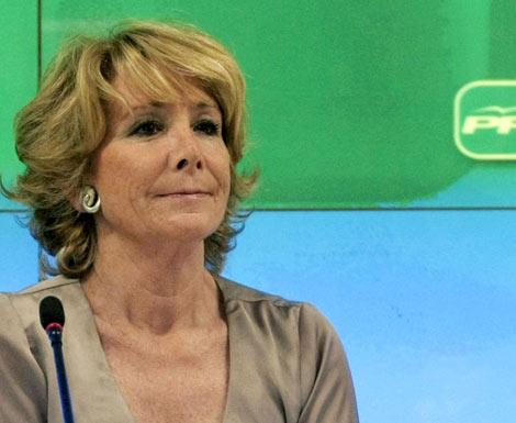 Esperanza Aguirre, durante la Junta Directiva Regional del PP. | Efe