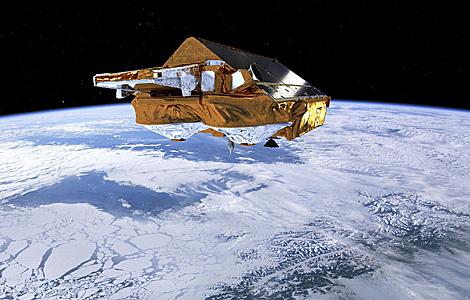 Recreación del satélite Cryosat de la ESA.