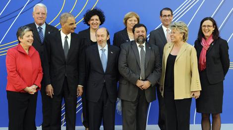 La foto de familia de la reunión en El Pardo. | Afp