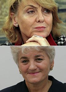 Szymanek-Deresz, vicepresidenta del Partido Socialista Europeo (arriba), y la senadora Fetlinska. Efe