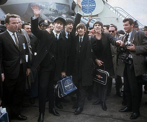 Los Beatles, en el aeropuerto JFK de Nueva York, en 1964. | AP