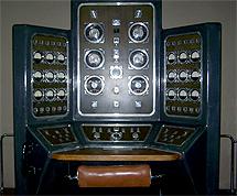 El aparato desde el que se controlaban las explosiones. Museo en Semey. | A. F.