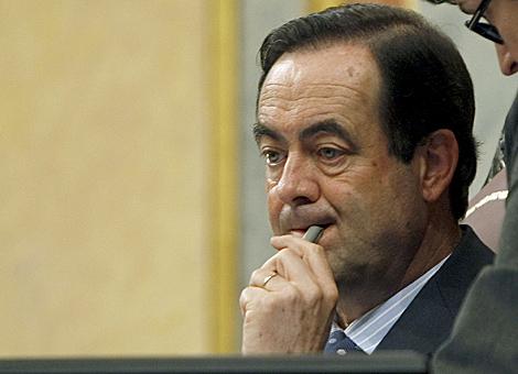 José Bono, durante una sesión del Congreso de los Diputados. | Efe