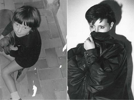 Isabelle Aubry, en una fotografía de niña y ya de adulta.
