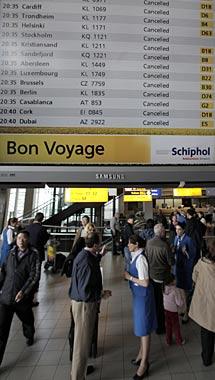 Vuelos cancelados en Amsterdam. AP