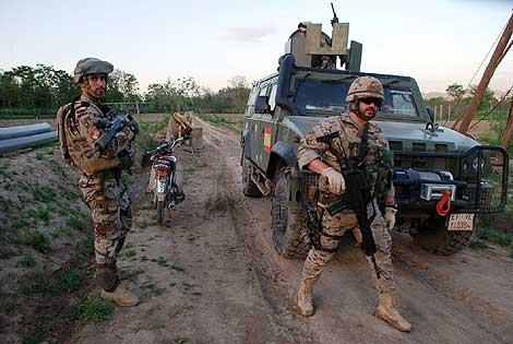 Militares españoles en Qala-e-naw esta semana. | M. B.