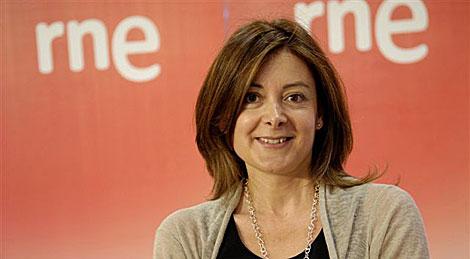 Pepa Fernández, presentadora de 'No es un día cualquiera' en RNE.