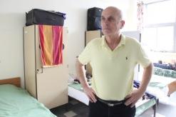 """Paul, un """"accidente financiero"""" lo llevó a un albergue (Foto: M.V.)"""