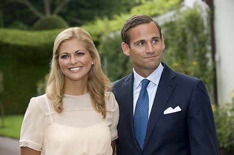 Magdalena de Suecia y Jonas Bergström, el día que anunciaron su compromiso en 2009. | Efe