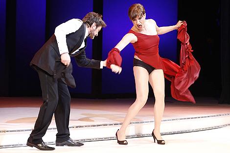 Fernando Tejero y Blanca Portillo, en otro momento de la gala. | J.D.